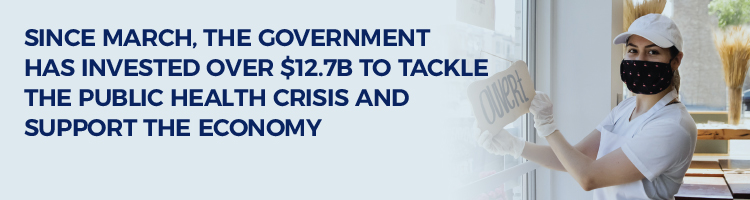 Over $12.7B invested since march to tackle the public health crisis and support the economy