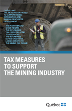 Consult the PDF document: Tax Measures to Support the Mining Industry