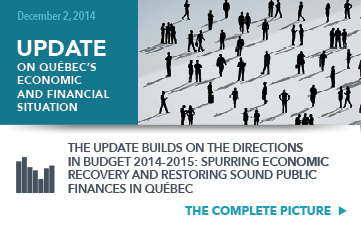 The complete picture of the Update on Québec's economic and financial situation.